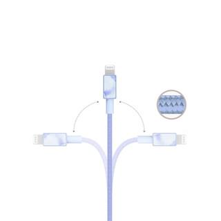 ifory 安福瑞 L01002 MFi认证  苹果数据线 浅艾蓝 1.8m