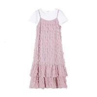 La Babite 短袖T恤吊带裙两件套套装