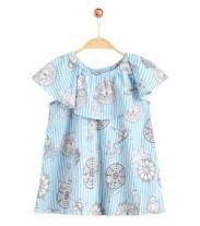 pencilclub 铅笔俱乐部 女童短袖衬衫 TPG282794B 浅粉蓝 160cm