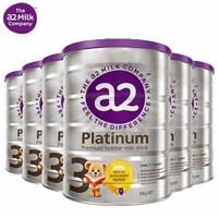 a2 艾尔 Platinum 白金版 婴幼儿配方奶粉 3段 900g 6罐装 有效期至21年9月