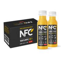 农夫山泉 NFC果汁饮料 100%NFC橙汁300ml*24瓶*2件+ 100%NFC 新疆苹果汁 300ml*24瓶 *2件