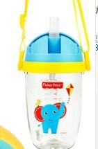 Fisher-Price 费雪 FP8053 PPSU儿童学饮杯 300ml 蓝色