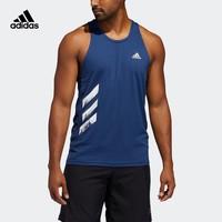 阿迪达斯官网 adidas OTR SINGLET 3S 男装跑步运动背心FQ2529