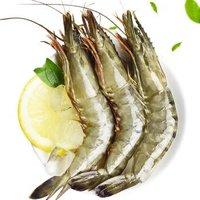 量道 越南冷冻黑虎虾(大号)800g净含量650g 22-25只/盒 火锅海鲜水产 *2件