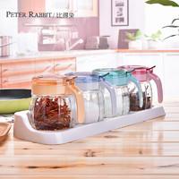 英国比得兔玻璃调味瓶罐调料罐调料盒调味盒盐罐厨房家用组合套装