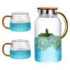 悦物  大容量防爆凉水壶冷水壶1.2L+2个贵妃杯