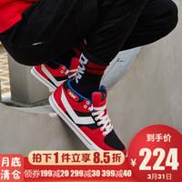 PONY/波尼秋冬新品滑板鞋ATop时尚男运动透气板鞋韩版硫化休闲鞋83M1AT03 红色(男) 39
