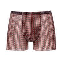AIMER MEN 爱慕先生 NS23B741 中腰平角内裤 NS23B741 红色印花 S