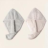 HOYO 好友 细条干发帽2条装 灰白+粉白