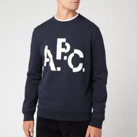 银联专享:A.P.C. logo印花 男款休闲卫衣