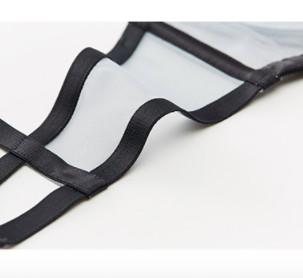 ManiForm 曼妮芬 女士薄款刺绣文胸套装 20842377 黑色 70C+160