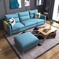 奢驿沙发懒人沙发小户型沙发客厅沙发北欧现代简约拆洗布艺沙发网红款 更多颜色(海绵款) 大三人位