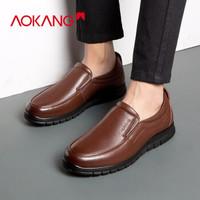 奥康 N183910040 一脚蹬皮鞋 *2件