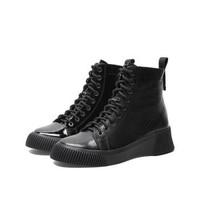 Teenmix 天美意 COW40DD9 牛皮革女短靴