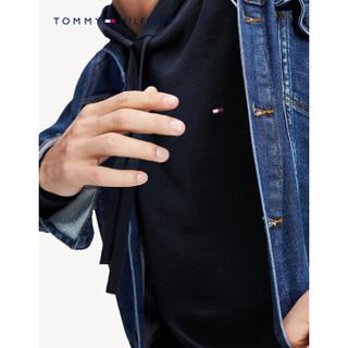 TOMMY HILFIGER 汤米·希尔费格 男士套头抽绳连帽针织衫 MW0MW12260 藏青色 M