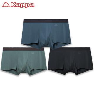 Kappa 卡帕 KP9K18 男士莫代尔四角裤礼盒 3条装 *3件
