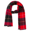 Meters bonwe 美特斯邦威 女士长款保暖围巾 88776584-109263 红黑组 180*65cm