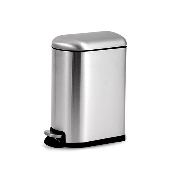 ORANGE 欧润哲 100819 鼓形静音不锈钢垃圾桶 12L 不锈钢原色 *3件