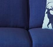 泽遥 北欧风布艺沙发 大双人位 1.8m  藏蓝色