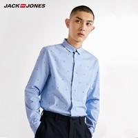 JACK JONES 杰克琼斯 218405527 纯棉刺绣长袖衬衫