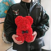 创意生日礼物玫瑰熊抱抱熊礼盒 适合送女友/老婆