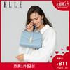ELLE女包新款92207铆钉几何纹小香风单肩包链条包包斜挎包女