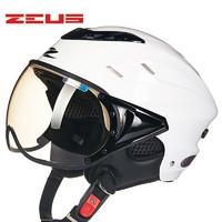 台湾瑞狮摩托车头盔男女士轻便式复古夏季电动车半盔四季安全帽