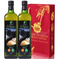 蓓琳娜(BELLINA)1L*2瓶 PDO特级初榨橄榄油 西班牙原装原瓶进口 包邮送礼品袋