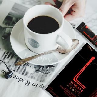 韩国进口南阳富然池lookas9中度烘焙美式黑咖啡纯咖啡粉130条装