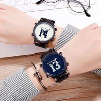 Spovan 大表盘 情侣手表 2块装
