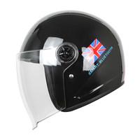 GILLE B516摩托车蓝牙头盔男 电动摩托车安全帽 单境片半盔 智能头盔四季时尚半盔  红蓝条