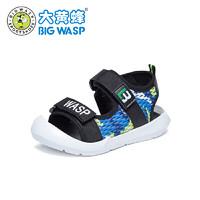 大黄蜂儿童机能鞋 宝宝鞋子1-3岁婴儿软底学步鞋包头幼儿男童凉鞋 *2件