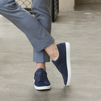 京东京造 板鞋男休闲反绒牛皮滑板鞋舒适透气耐磨