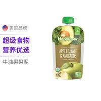 禧贝happybaby二段透明果泥  苹果羽衣甘蓝牛油果 +凑单品