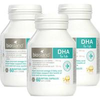 银联专享:BIO ISLAND 生物岛 高纯度DHA营养胶囊 60粒 *3件