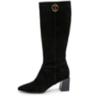 Cbanner 千百度 A9579510WX 女士侧拉链羊绒高跟长筒靴靴 A9579510WX 黑色 34