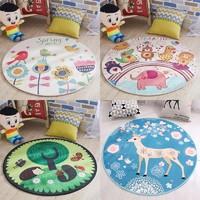 卡通地垫椅子家用卧室儿童房间床边坐垫吊篮帐篷水洗脚垫圆形地毯