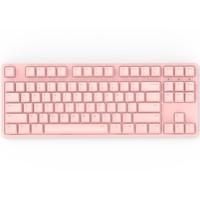 iKBC W200 无线机械键盘(cherry静音红轴、粉色正刻、无光、无线、粉色、87键)