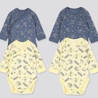 UNIQLO 优衣库 婴儿/新生儿 (UT) DPJ圆领连体装 2件装