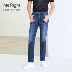 InteRight 男士直筒牛仔裤