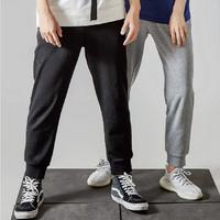 Easy 男女同款经典棉质宽松运动长裤 *2件