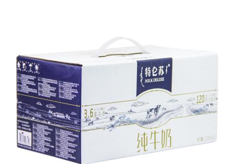 蒙牛特仑苏纯牛奶250ml*12盒早餐学生奶全家礼盒整箱