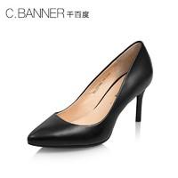 C.BANNER/千百度2018春季新品商场同款尖头高跟女鞋单鞋A8192201