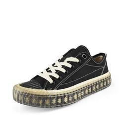 Kappa卡帕串标情侣男女休闲板鞋帆布鞋小白鞋2020 K0AW5VS03 黑色-990 37