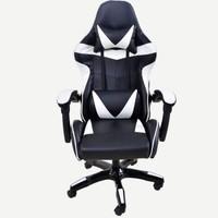 非洲鹰 电竞椅 电脑椅 游戏椅 椅子家用 办公椅 可躺 网吧网咖座椅 靠背椅 白色 尼龙脚