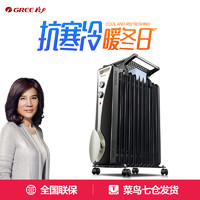 格力油汀取暖器家用节能省电电暖气11片电油丁暖风机烤火炉电暖器