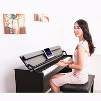 博仕德 电钢琴88键专业考级力度键-木纹黑(双人凳+礼包)