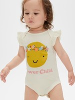 Gap 盖璞 婴儿 妙趣图案荷叶边圆领连体衣