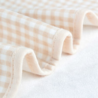 遇童欢 婴儿隔尿垫  精梳棉可机洗 护理垫   月经垫 棕色方格100*150
