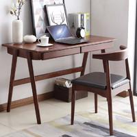 冬巢实木电脑桌台式家用写字台北欧实木书桌椅学生学习桌简约办公桌子 *2件